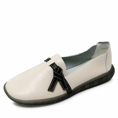 kami et muse Tied ribbon comfort leather flat_KM21s008