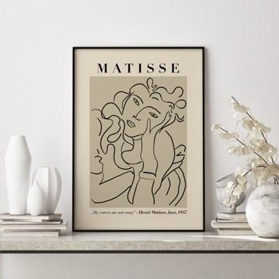 앙리마티스 그림 액자 포스터 우먼