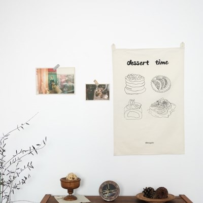 [일레갈로] 디저트 드로잉 패브릭포스터