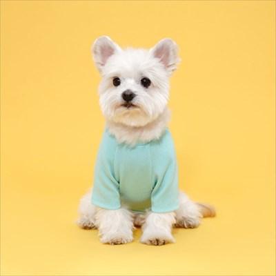 플로트 베이직티셔츠 강아지옷 민트