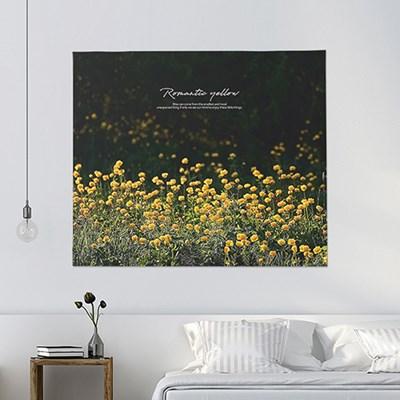 패브릭포스터 가림막 벽가리개 150x130 로맨틱옐로우