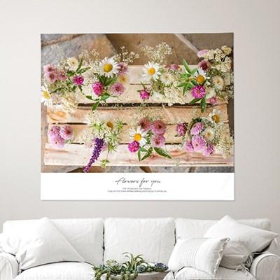 패브릭포스터 벽장식 가림막커튼 150x130 플라워포유