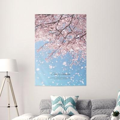 패브릭포스터 월행잉 패브릭가리개 85x120 벚꽃무드