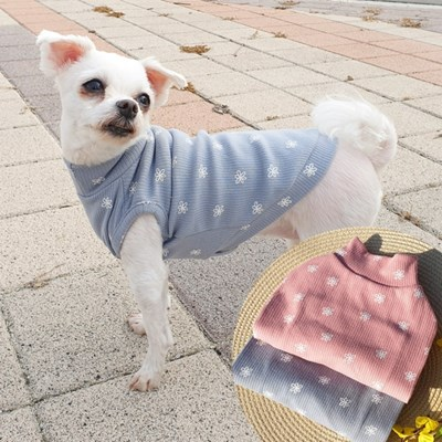 스타플라워폴라티 강아지티셔츠 애견옷 강아지옷 애견산책옷