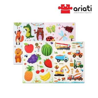 [아리아띠] 집콕놀이세트 아기 자석퍼즐 4종-과일/자동차/곤충/동물