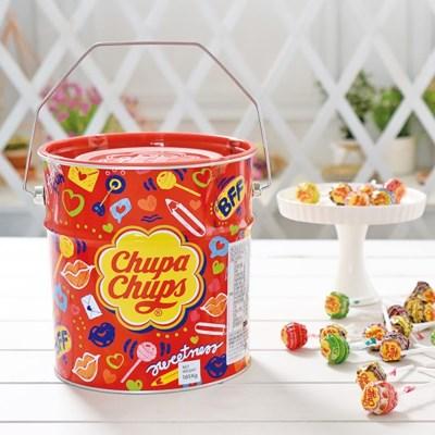 츄파춥스 팝아트틴 150개입 막대사탕 화이트데이 선물
