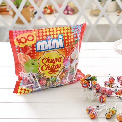 츄파춥스 미니 100개입 막대사탕 화이트데이 캔디선물