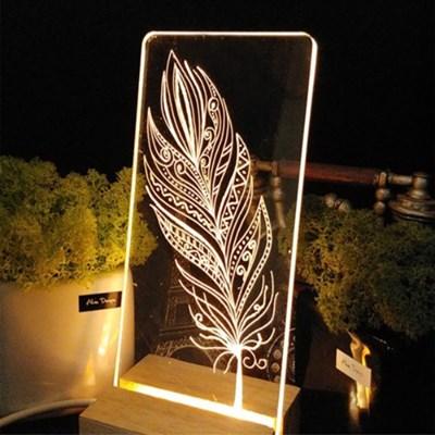 감성가득 셀프조명 직사각 LED 아크릴 무드등