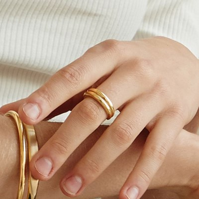 [EXO백현,아린,효연,아이키 착용][silver925] neat double ring
