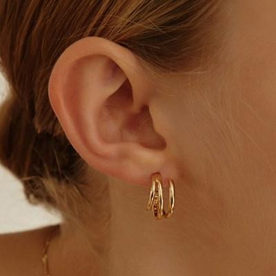 [산다라박,원진아,엄정화 착용][silver925]triple unbalance earring