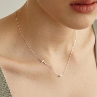[미주,휘인 착용][silver925] tidy cross necklace