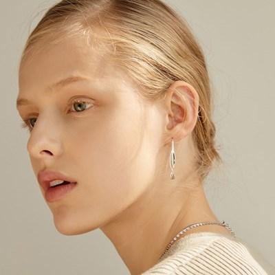 [silver925]wave hook earring