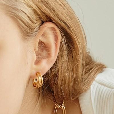 [소녀시대 유리 착용][silver925]tangled hoop earring