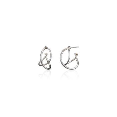 [silver925]fine line hoop earring