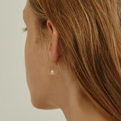 [silver925]calm pearl earring