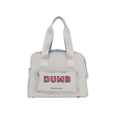 [monchouchou] Dumb Bear Most Bag_Silver Gray