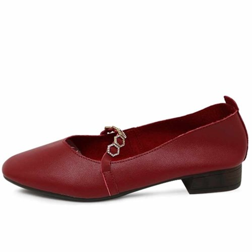 kami et muse Cubic top strap leather flat_KM21s016