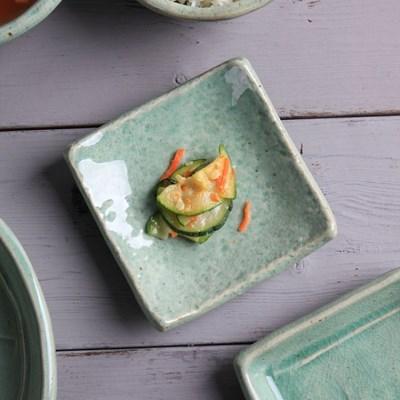 청솔 돌 사각찬기 1호 도자기그릇