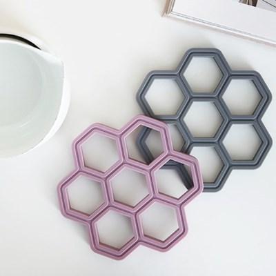 국내 생산 허니콤 실리콘 냄비 받침 5color