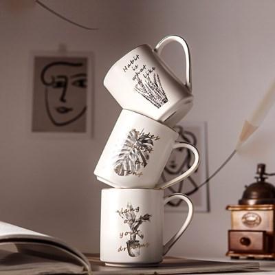 모네타 커피감성 카페 드로잉 머그컵(3type)