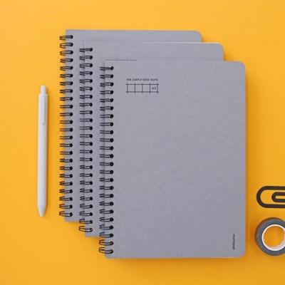 모모팝 더 심플 스프링 그리드 노트 A5 (3권 세트)_(1994302)