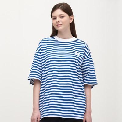 Stripe Over Long T-Shirt