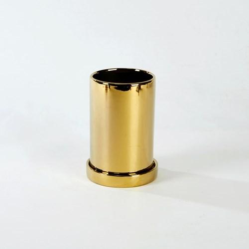 [모던하우스] 원형라운드화분 H15cm 골드
