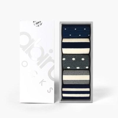 여성용 삭스 5팩 Gift-C-SET (쇼핑백 포함)