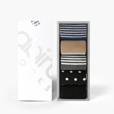 여성용 삭스 5팩 Gift-B-SET (쇼핑백 포함)
