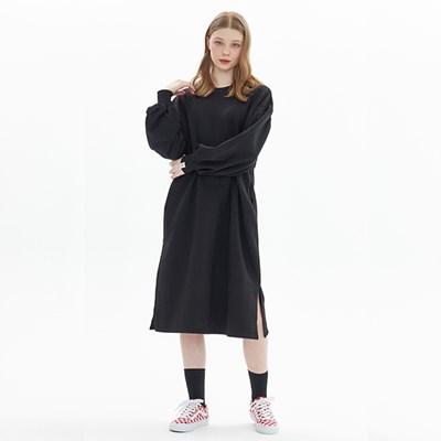 PUFF SLEEVE DRESS_BLACK