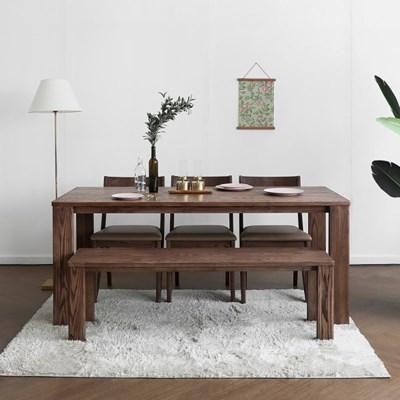 [애쉬크브라운] A1형 6인용식탁/테이블 세트 1800_(1693013)