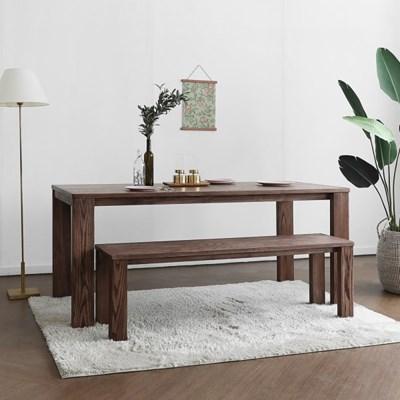 [애쉬크브라운] A형 6인용식탁/테이블 세트 1800_(1693014)
