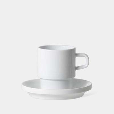 플랫 화이트 컵 앤 소서, Flat White Cup & Saucer 150ml, 5oz