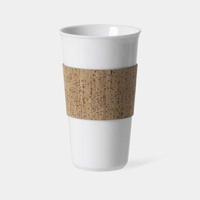 L 코르크 슬리브 컵, Reusable Cup & Cork Sleeve 400ml, 13.5oz