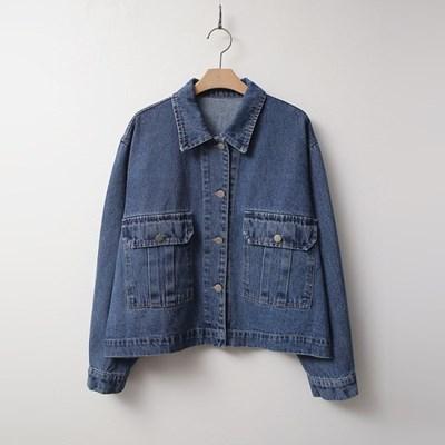 Pocket Crop Denim Jacket