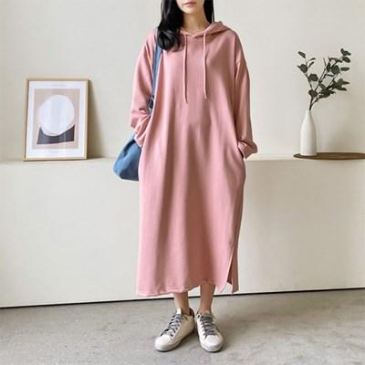 Spring Hooded Long Dress