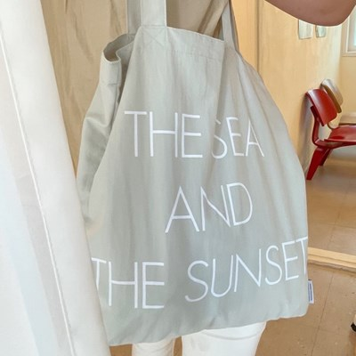 The sea and the sunset bag ( grey )