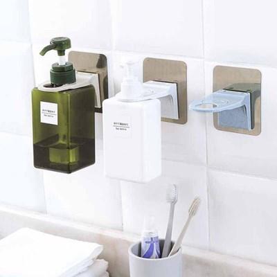 매직 욕실 샴푸 린스 손세정제 걸이 3개 세트_(639398)