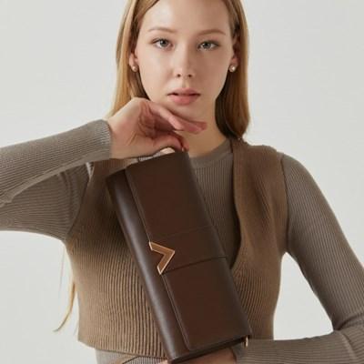 [사은품 event] 밸럽 21 S/S 클루아 클러치백-Dark Brown