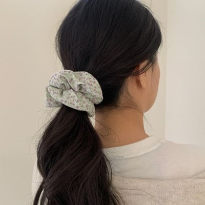 5col 안개꽃 곱창머리끈