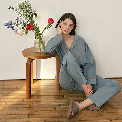 (w) Turkish Blue Pajama Set