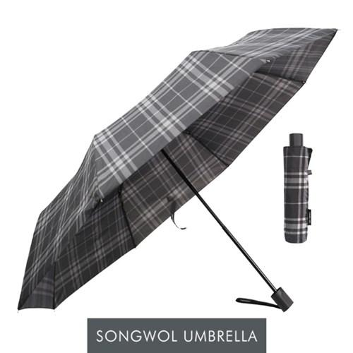송월우산 SW 3단우산 모던체크 우산
