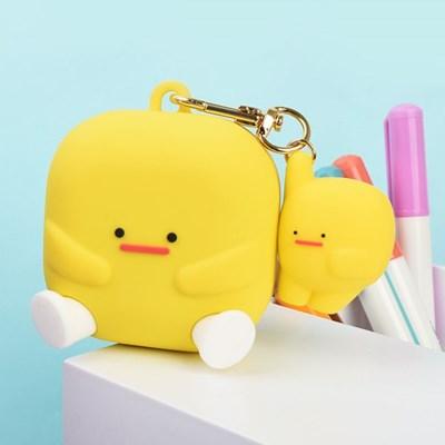 머랭 실리콘 갤럭시 버즈 프로 라이브 케이스+머랭 실리콘 키링
