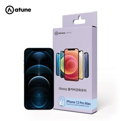 에이튠 아이폰 12 프로 맥스 글로시 풀커버 강화유리