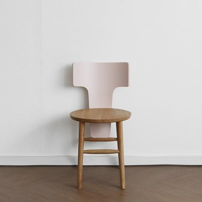[오크] I형 의자 핑크_(1696279)