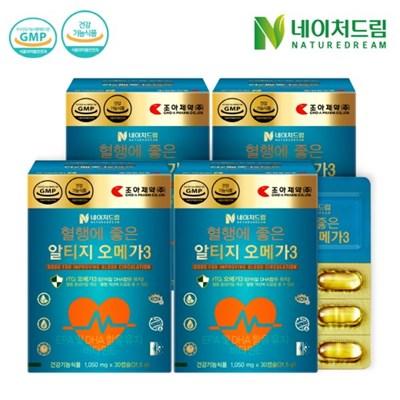 [네이처드림] 조아제약 알티지 오메가3 30캡슐*4박스