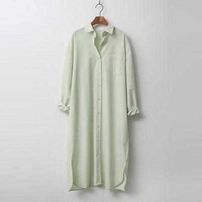 Cotton Wrap Shirts Long Dress