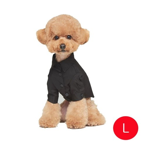 강아지 메리미 셔츠 블랙 L