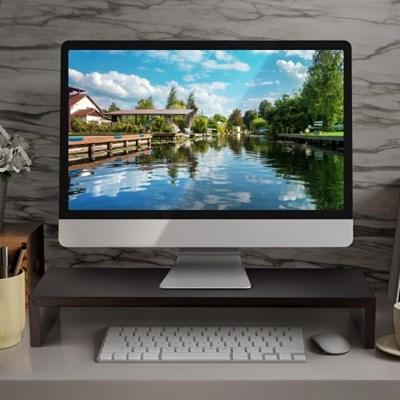모니터 받침대 선반 거치대 컴퓨터 모니터스탠드 테이블_(625278)