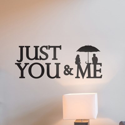 Just you and me 감성 일러스트 레터링 인테리어 스티커